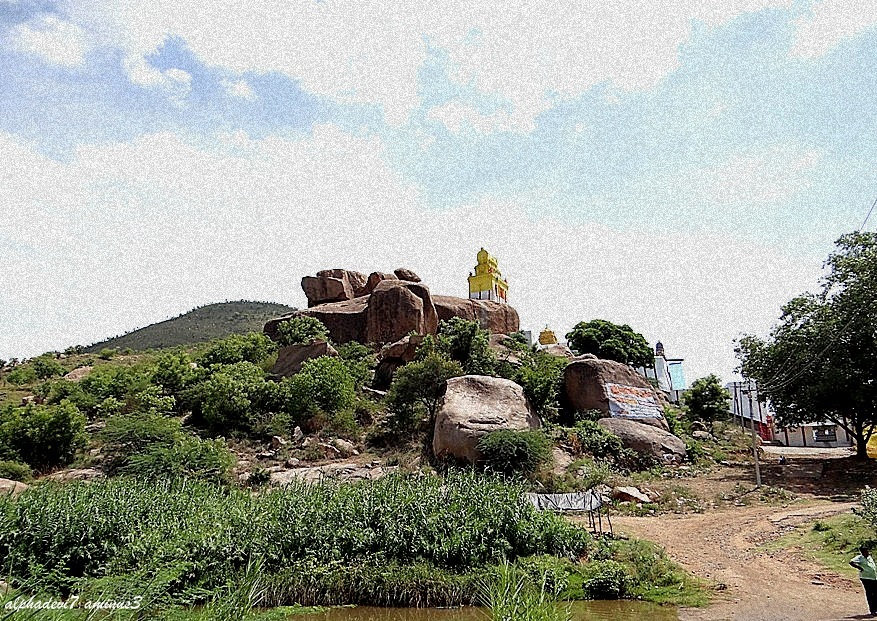 The temple atop a rock
