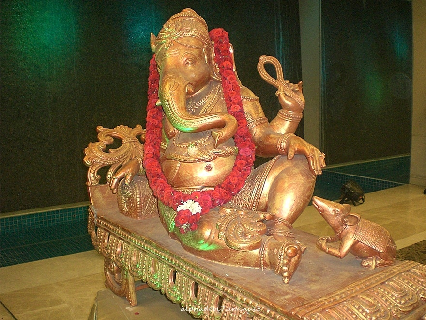 Ganesha in a Wedding Hall..