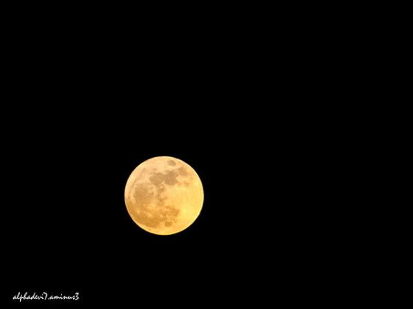 The  yellowish  orange moon