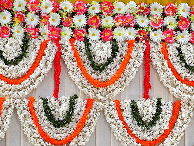Floral decor at the Wedding Hall
