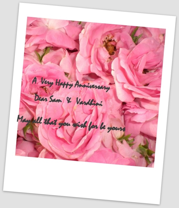 Happy Wedding Anniversary  Sam :))
