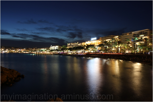 A night at La Croisette in Cannes.