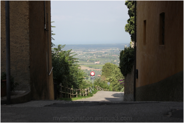 The entrance of a small vllage up Hill.