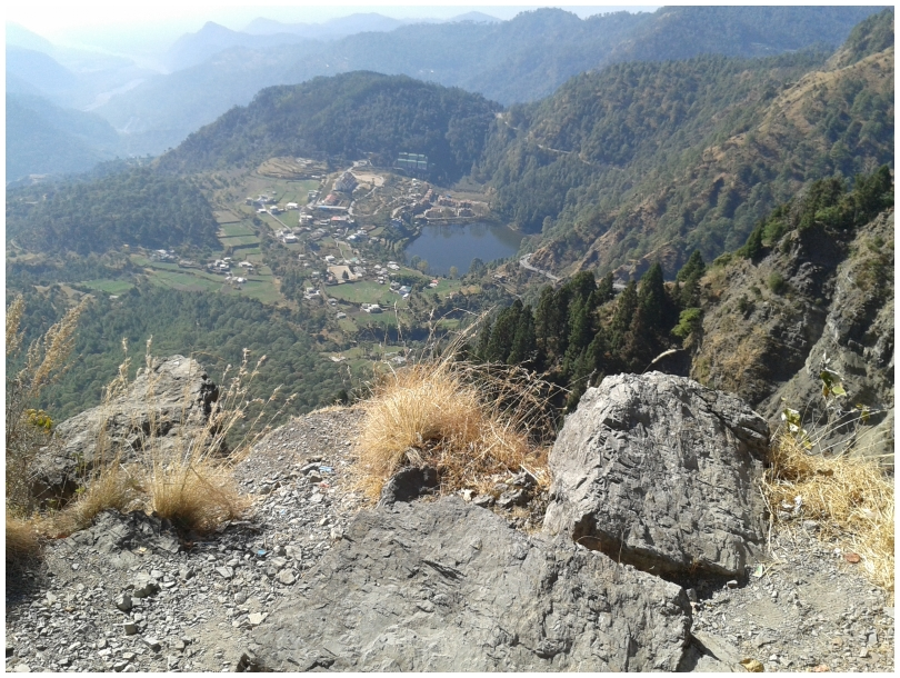 The top view from Nainital Hill station.