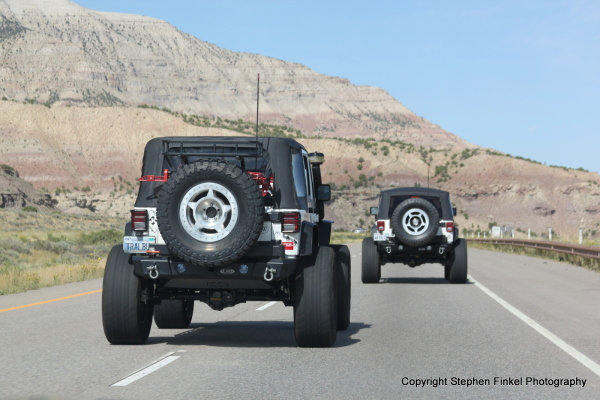These two 4 x 4 passed us I quickly took the shot