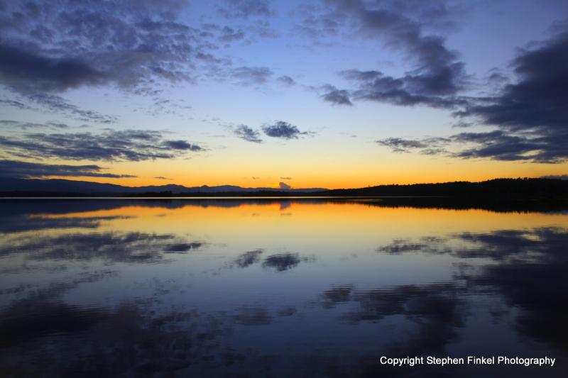 Blue & Orange Sunset
