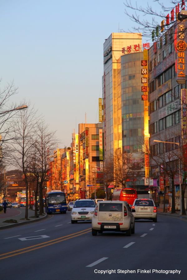 Sun Sets on Ansan Korea