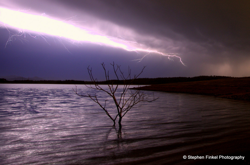 Lightning Bolt at the Lake