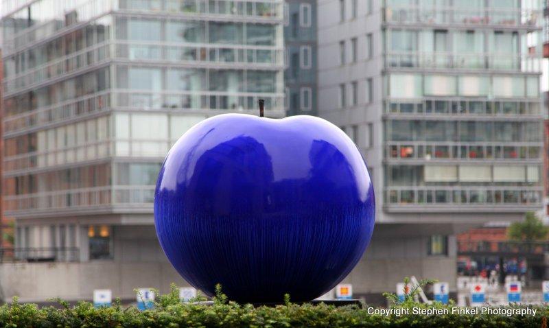 A Blue Apple