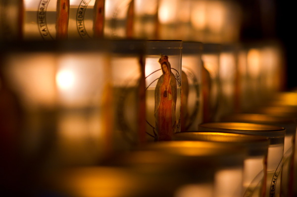 Candles in Notre Dame de Paris