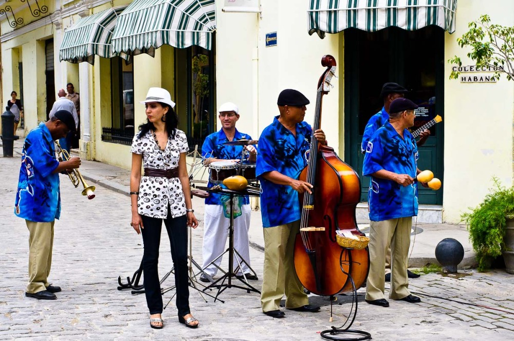Street band in Havana