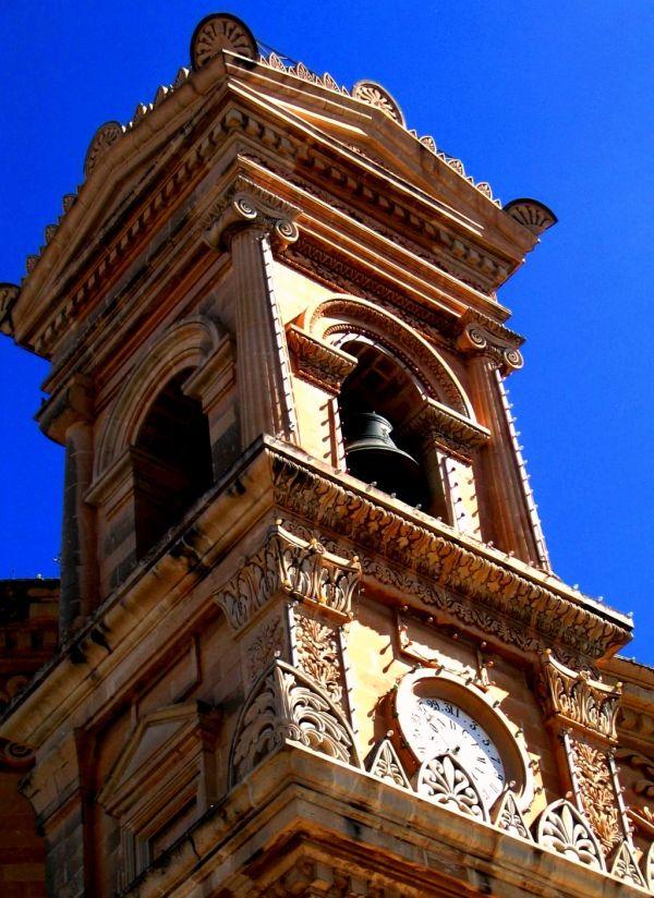 Church bell tower mosta malta