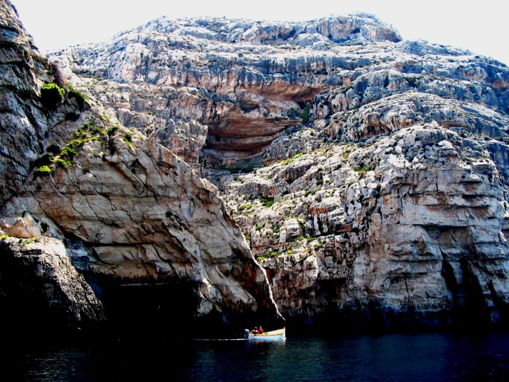 Cliff rock blue grotto Malta