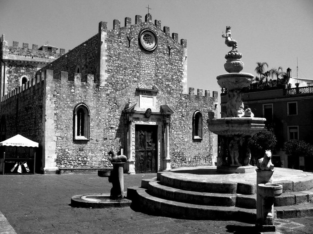 Stone church taormina sicily itay religion