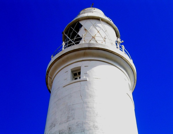Lighthouse at St. Mary's Island in Whitley Bay, UK