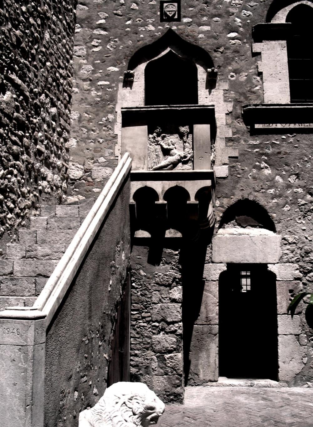 Taormina sicily italy steps stone