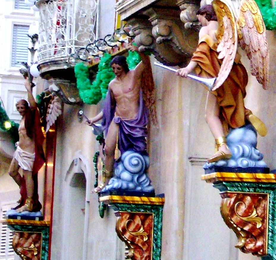 Lija, Festive, Wall, Statues, Malta, Colour