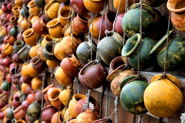 Pots , colour, mexican, spice