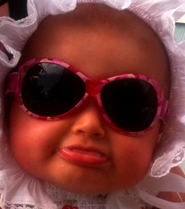 Baby colour sunglasses girl bonnet