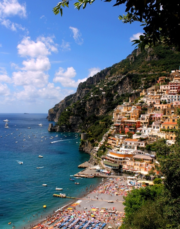 Positano, Amalfi Coast, Positano, Beach, Sea, Ital