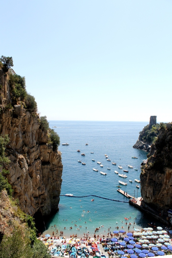 Amalfi, Beach, Italy, Sea, Cliff