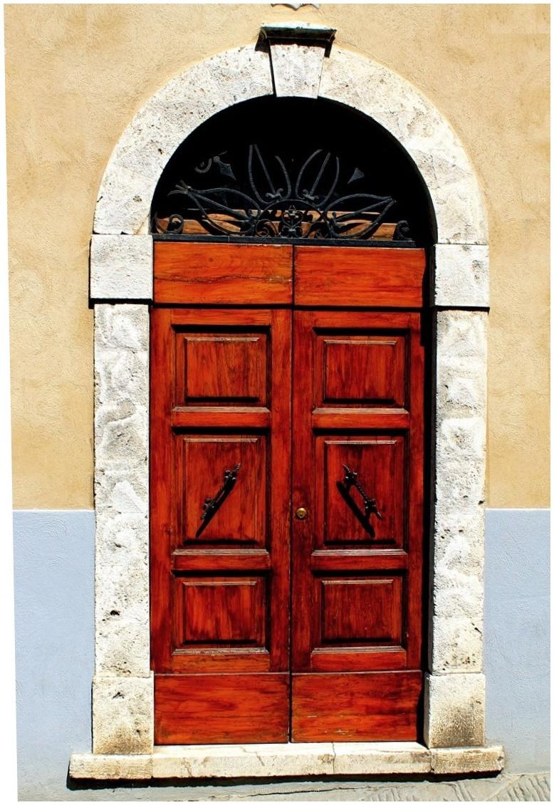 door, Siena, Italy, Arch