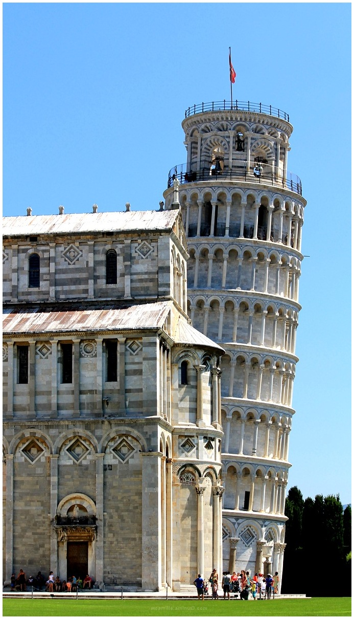 PISA, ITALY, LEANING, TOWER,