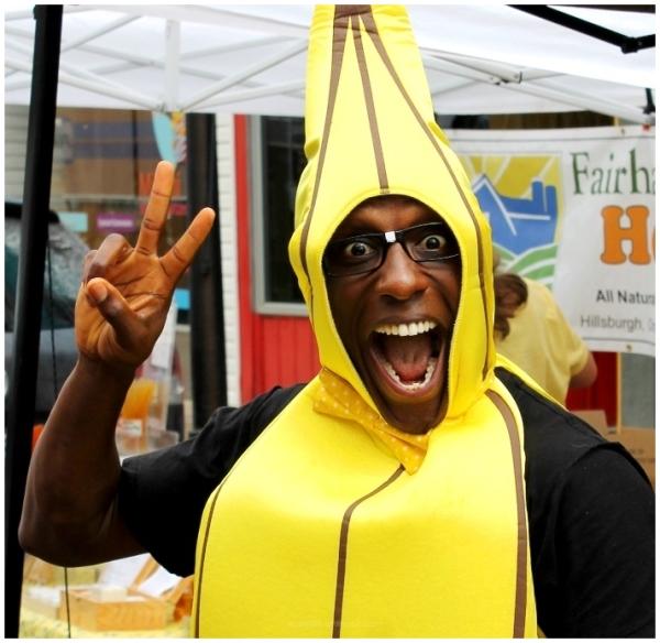 Banana, Man, Glasses