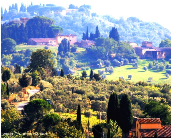 Tuscan, Countryside, Italy, Scene,