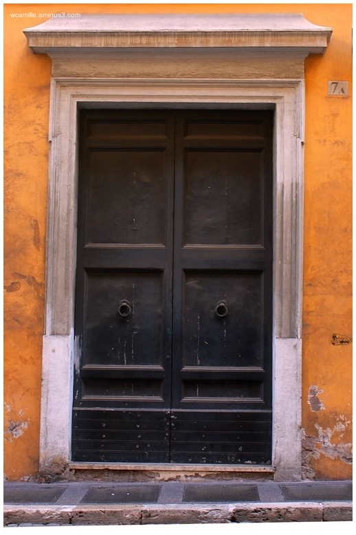Door, Italy, 7A, Stucco