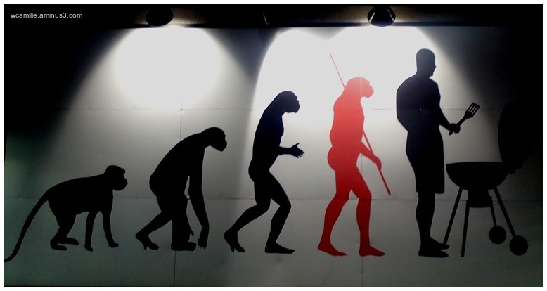 street art, advertisment, evolution, man barbeque