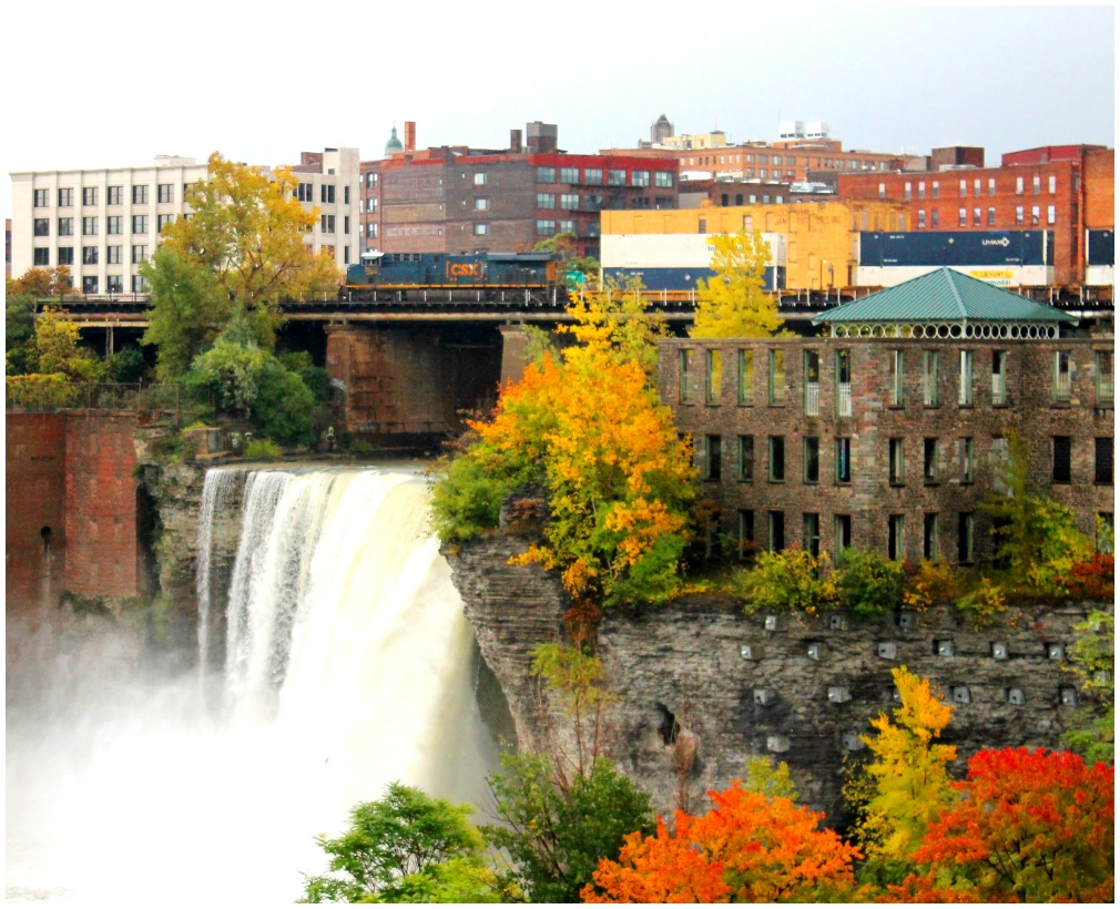 CSX, Train, Rochester, New York, High Falls, Bridg