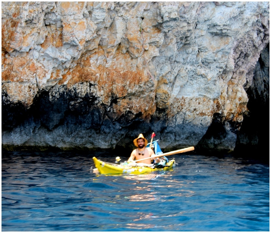 Malta, sea, blue grotto, kayak