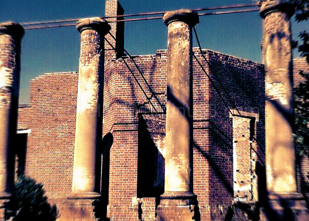 Part of the Barboursville Winery ruins