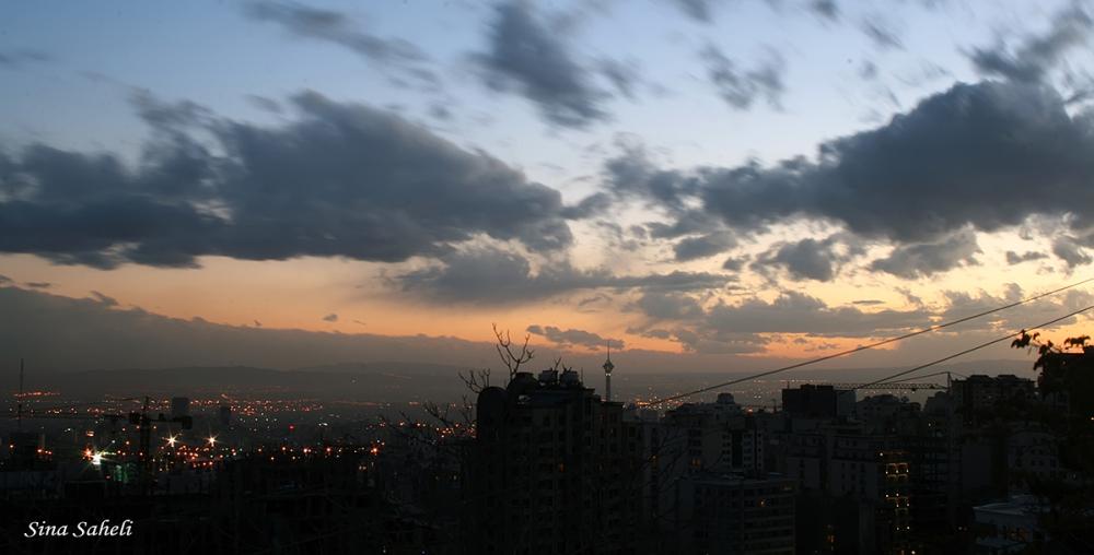 Cold sunset