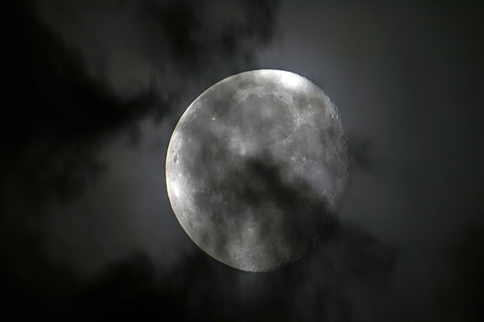 Moon behind the clouds will not stay