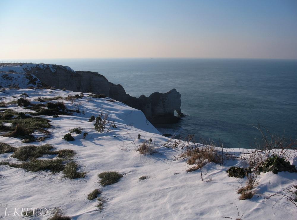 Étretat sous la neige