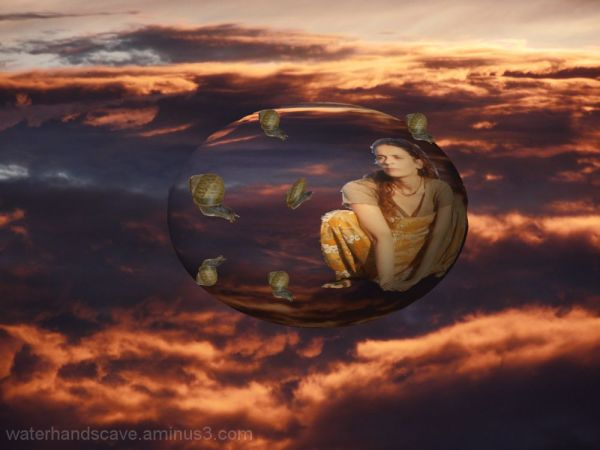 Traveling on a bubble through red skies