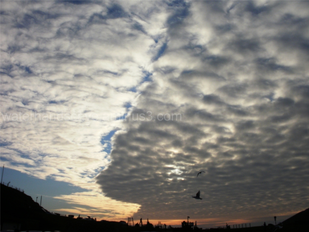 Costal sky on a winter afternoon