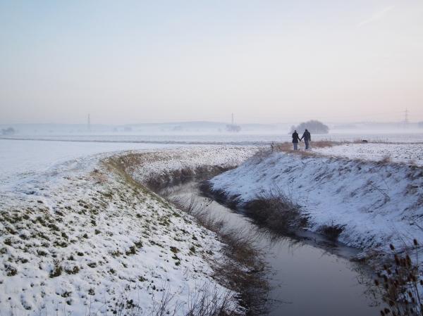A cold walk.