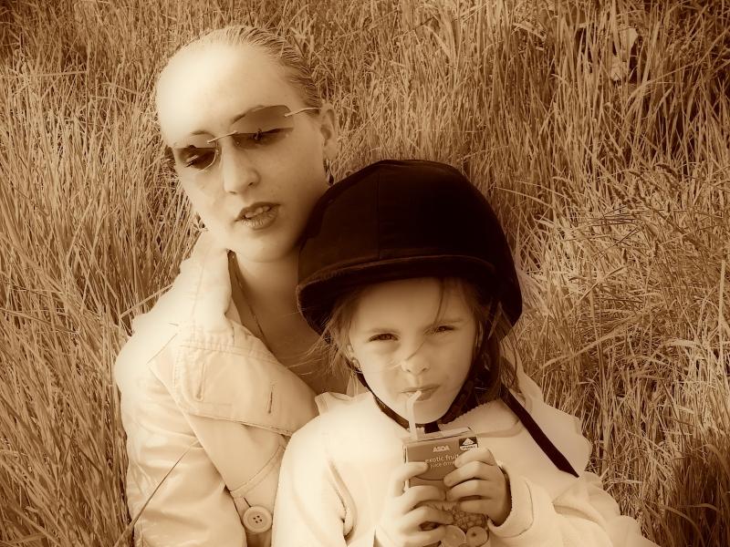 daughter and granddaughter
