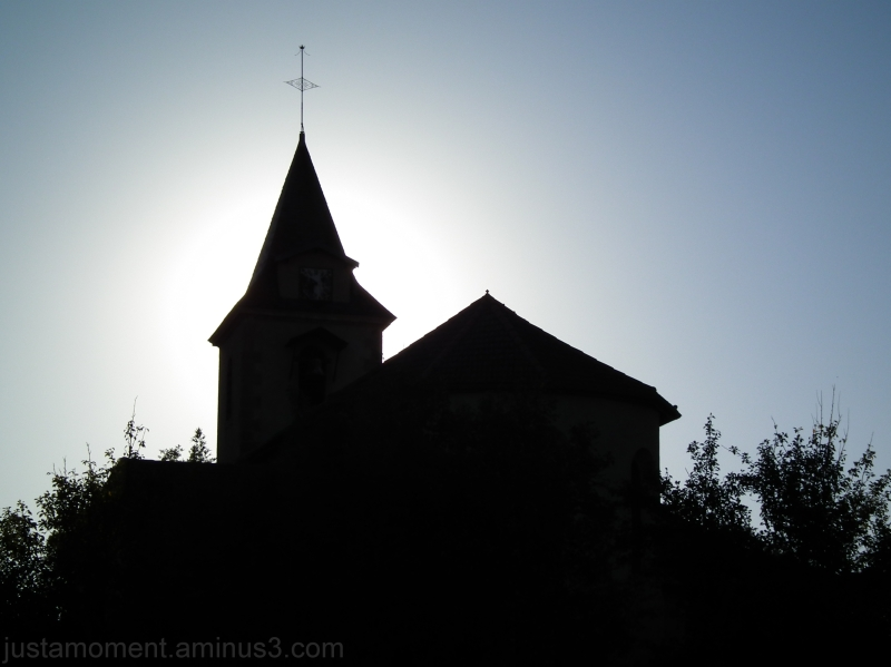 Church silhouette.