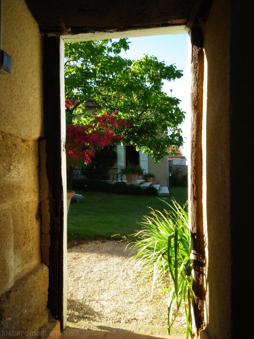 The garden door.