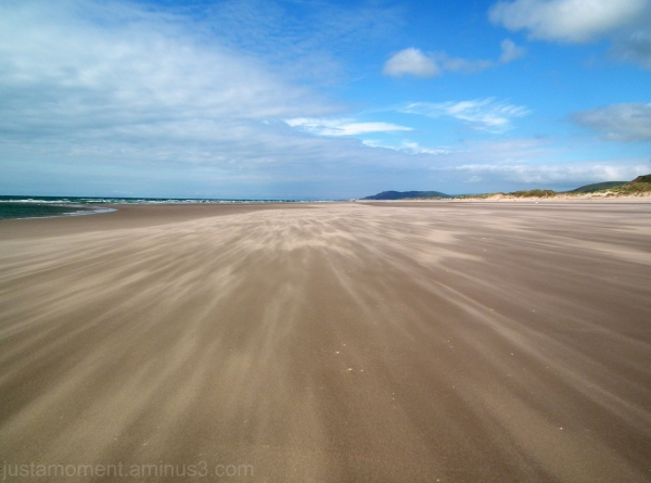 the beach at Aberdovey North Wales.