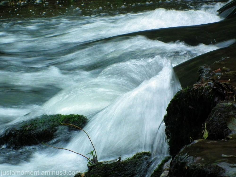 Flowing.
