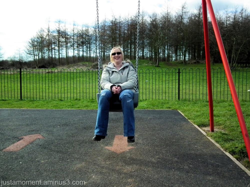 Mum on a swing.