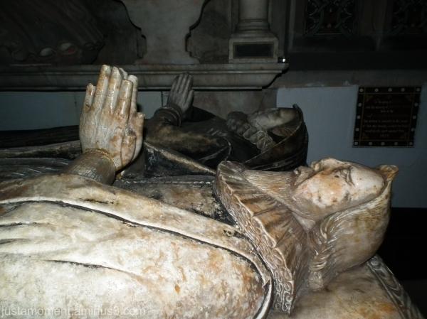 The Meverell tomb, Ilam Church, Derbyshire.