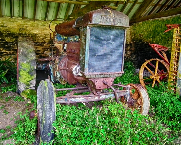 tyneham village fordson tractor