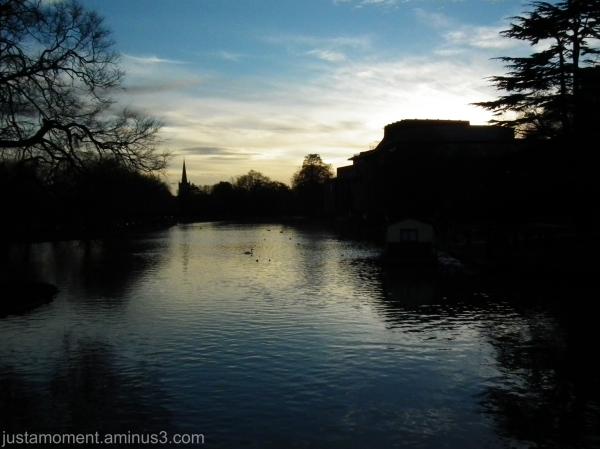 Sundown at Stratford Upon Avon.