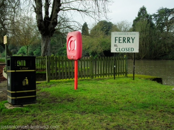 The Ferry on the River Avon......closed.